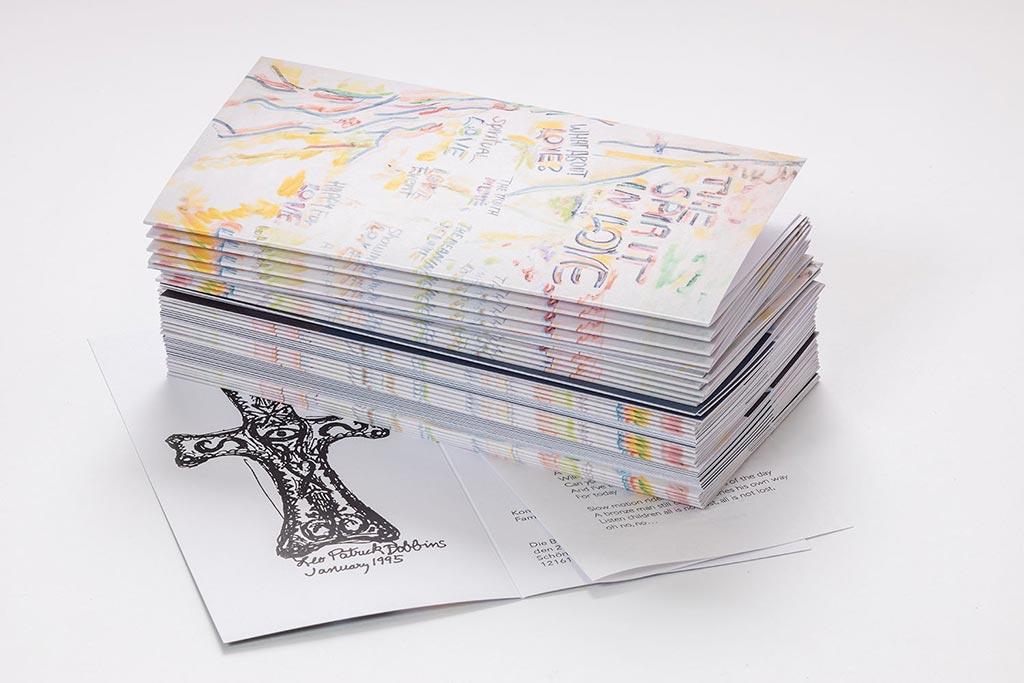 Papier für Bestatter und Trauerkartendruck, Trauerkarte mit Einleger, vierfarbig, natürlicher Weißton, Grammatur 360g